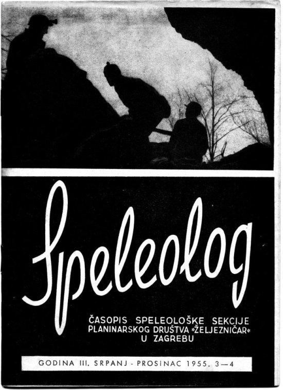 Speleolog, godište 3, br. 3-4, 1955.