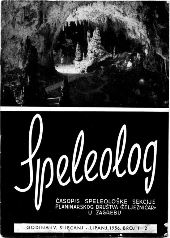 Speleolog, godište 4, br. 1-2, 1956.