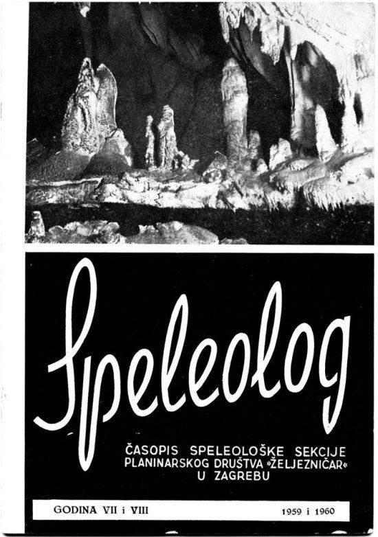 Speleolog, godište 7/8, 1959.-1960.