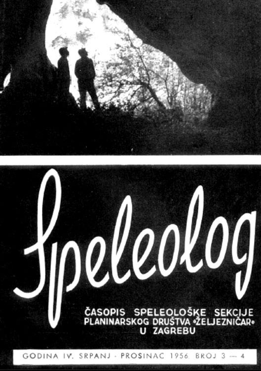 Speleolog, godište 4, br. 3-4, 1956.