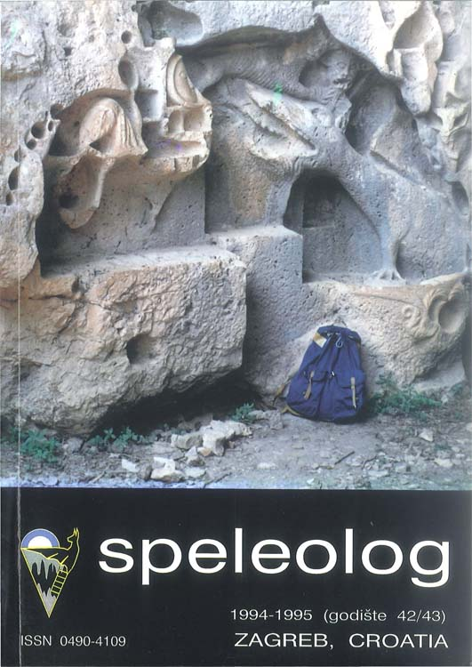 Speleolog, godište 42/43, 1994.-1995.