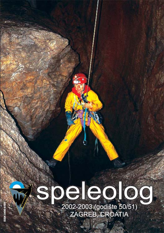 Speleolog, godište 50/51, 2002.-2003.
