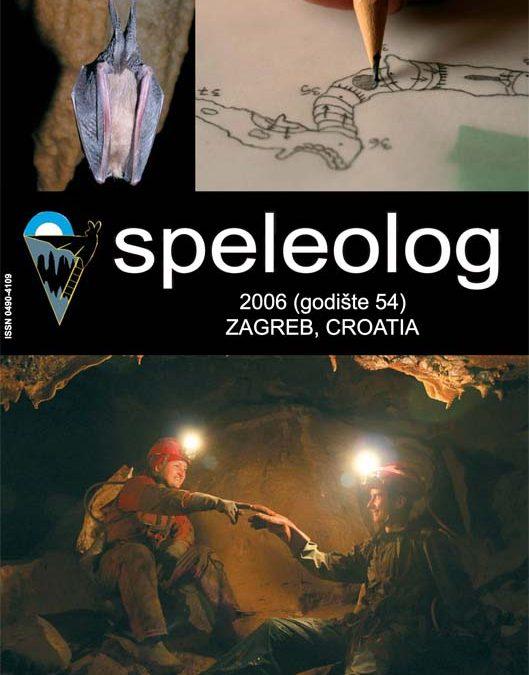 Speleolog, godište 54, 2006.