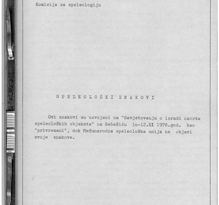 J. Posarić: Speleološki znakovi (1978)