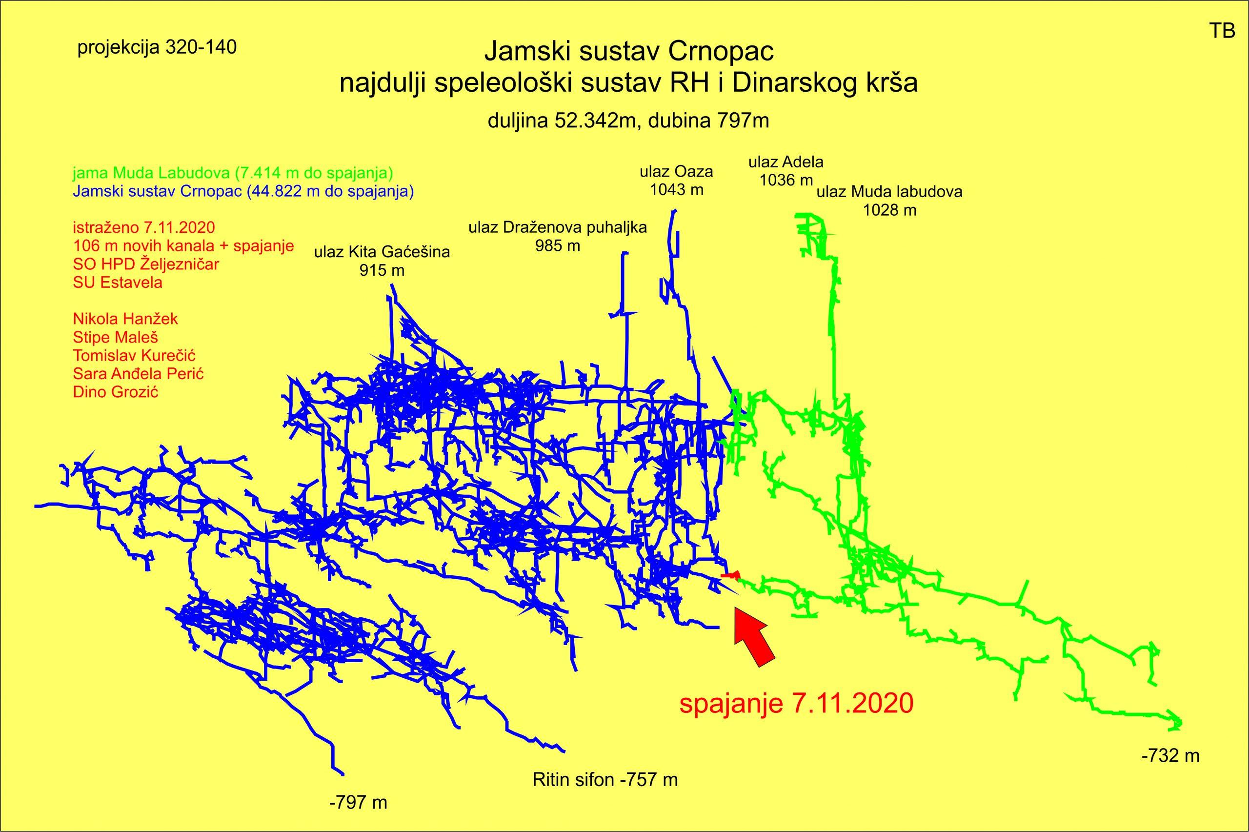 Muda labudova – dva nova ulaza u Jamski sustav Crnopac